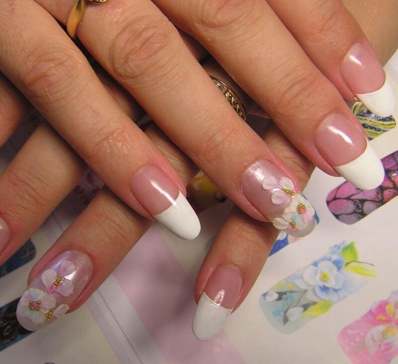 Фото нарощенных ногтей на акрил