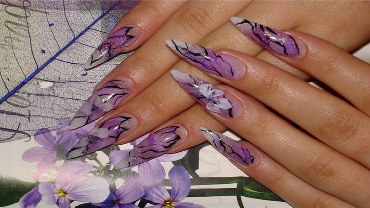 Нарощенные ногти модный дизайн
