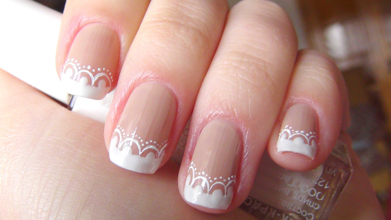 Маникюр на коротких ногтях свадебный своими руками 15