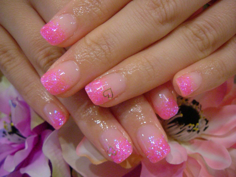 Розовый СПА френч