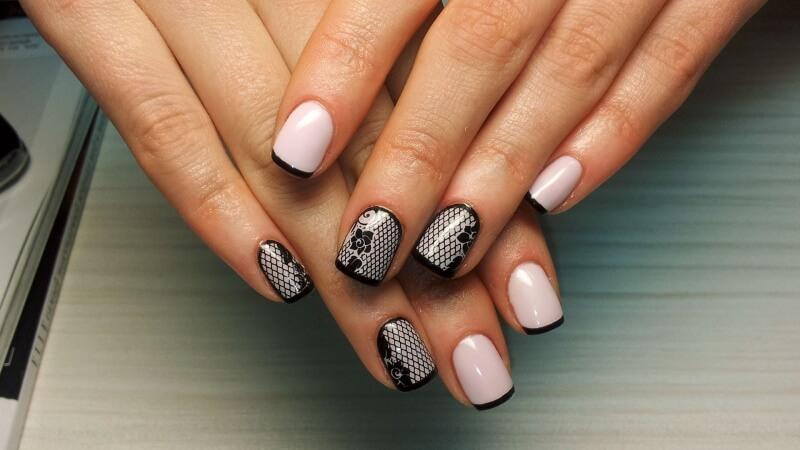 Дизайн френч на коротких ногтях 2017-2018