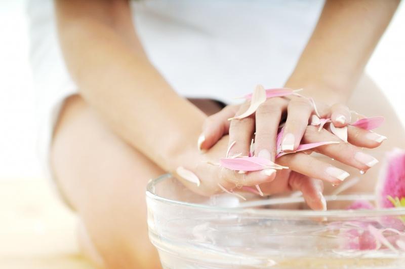ванночка для ногтей с морской солью