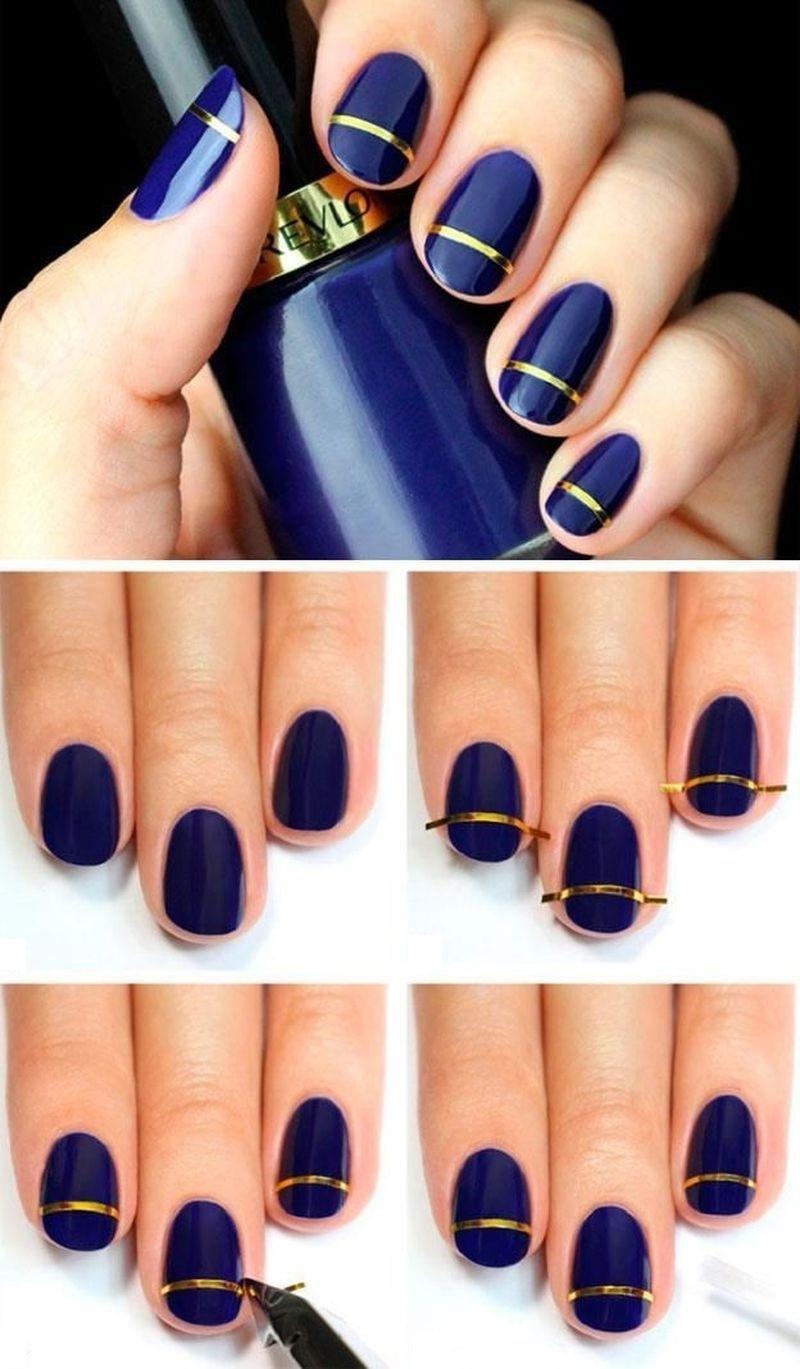 Как сделать рисунки шеллаком на ногтях? Фото и дизайны 34