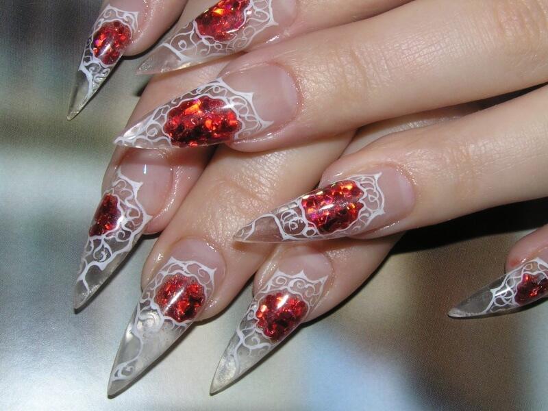 Рисунки на нарощенных ногтях