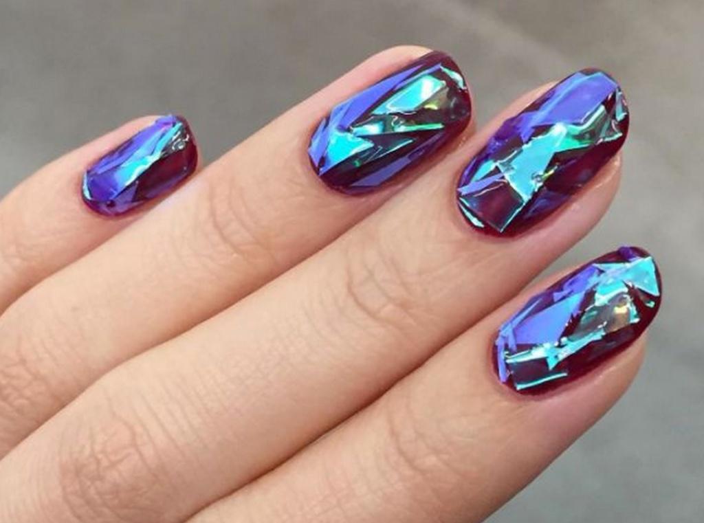 Дизайн ногтей жидкое стекло