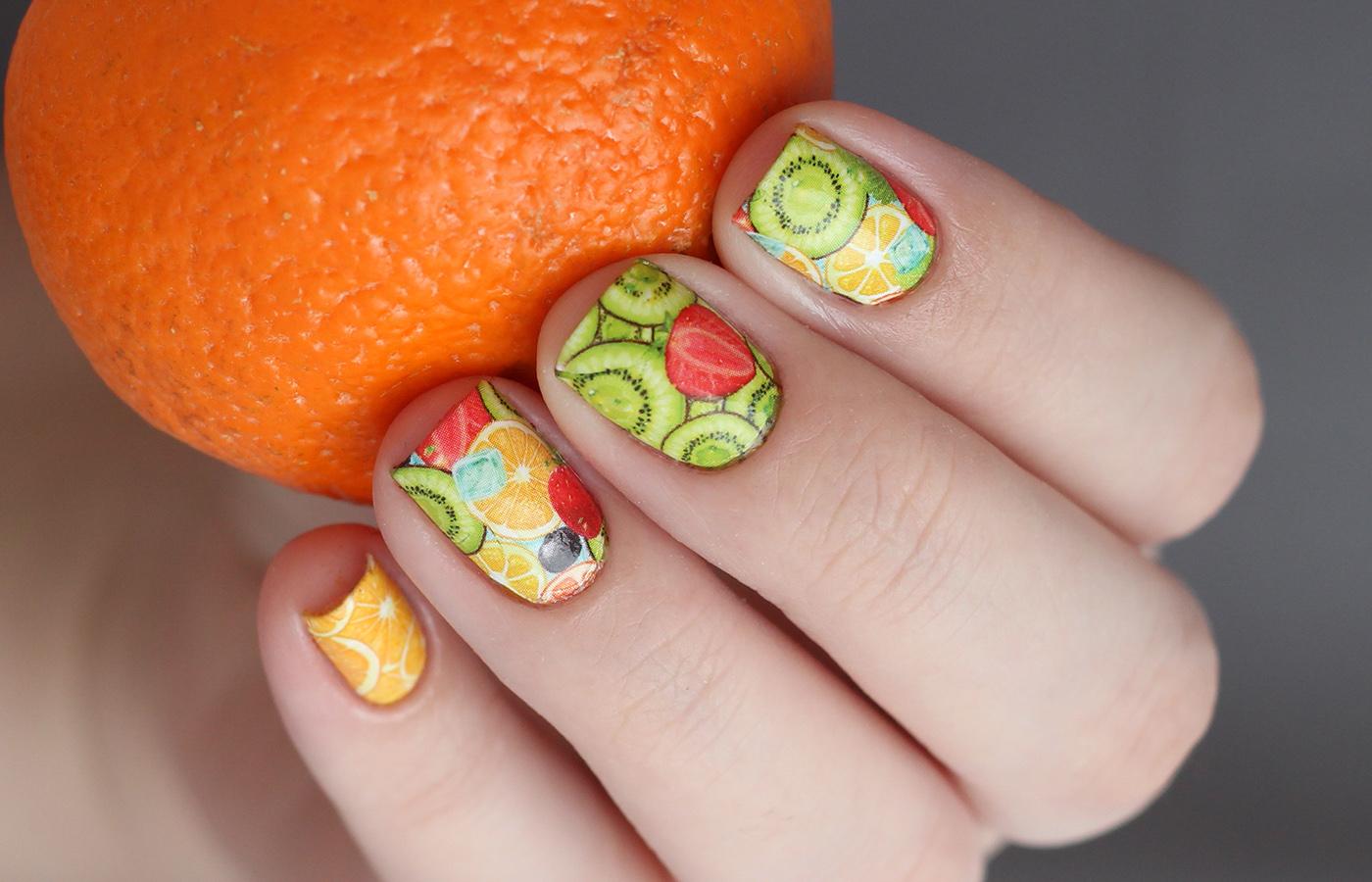 Маникюр из гель лака фрукты фото