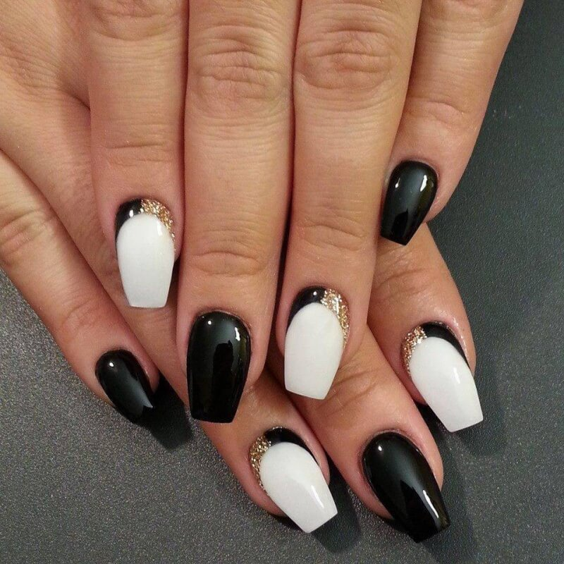 Чёрно-белый лунный френч