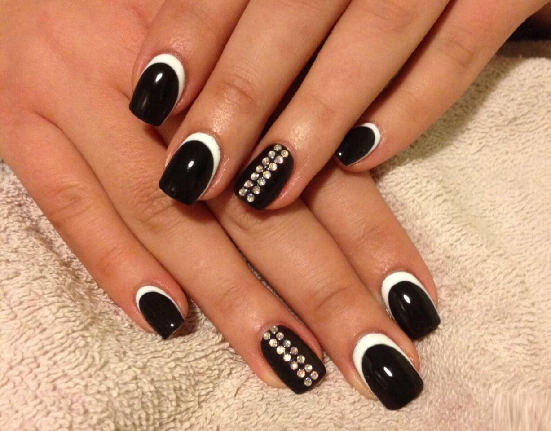 Покрытие черный ШЕЛЛАК на ногтях ФОТО 2014 93