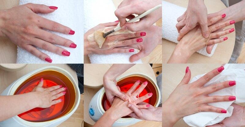 Парафинотерапия ногтей и рук
