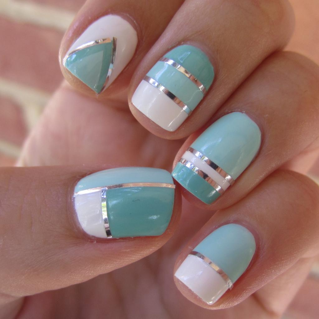 Дизайн для ногтей полоски фото