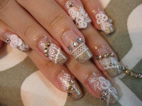 Свадебный пирсинг ногтей