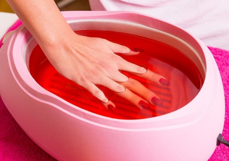 Парафинотерапия рук с нарощенными ногтями