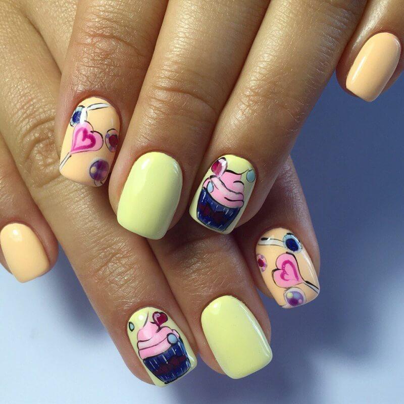 Молодёжный дизайн ногтей