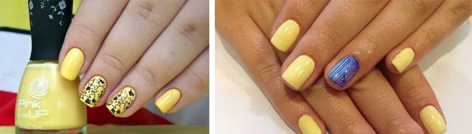 Желтый-лак-на-ногтях