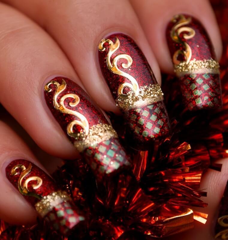желаю новогодний дизайн ногтей картинки или фото этом случае