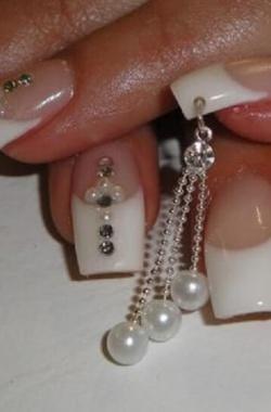 Свадебный пирсинг для ногтей