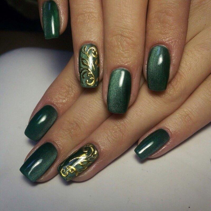 магнитный рисунок на ногтях