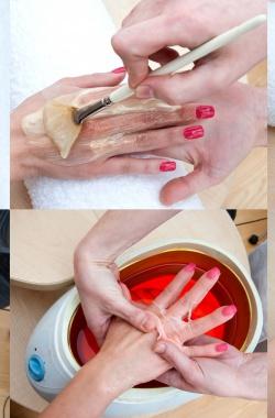 Покрытие ногтей парафином